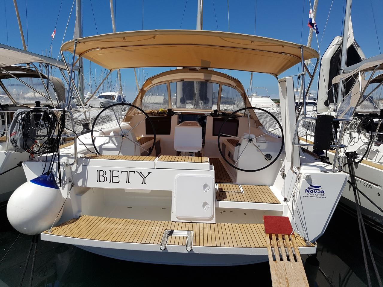 Dufour 412 GL, Bety